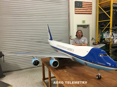 Thousands of hours of research, engineering, and physical effort went into this amazing UAV project. Much of which was spent perfecting the subtle technical details of the Aero Telemetry Air Force One 747 flyable replica.
