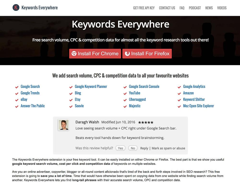 Check out the Keywords Anywhere app: keywordseverywhere.com