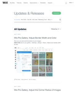 Wix Designer Updates & Releases