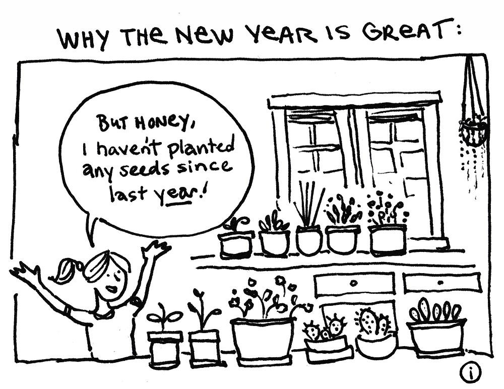 New Year Comic for Gardeners