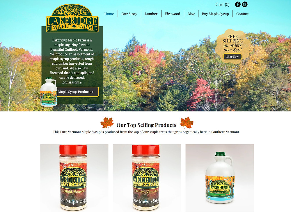 Website Design Template for Farm