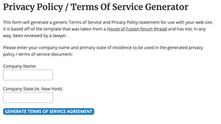 Privacy Policy Generator (Free!)