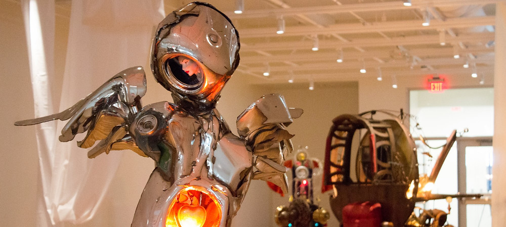 Iconic Chrome Sculpture Art Show at Western State Colorado University in Gunnison