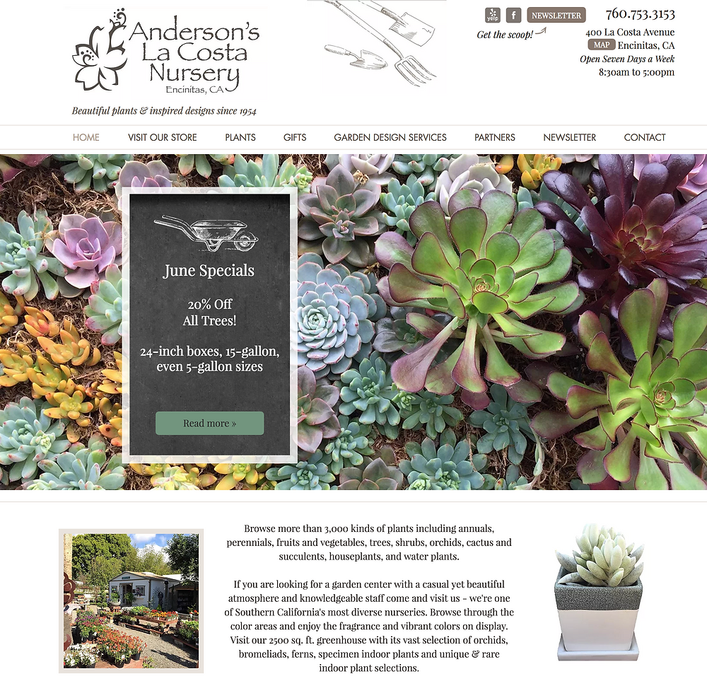 Denver Website Design for a Garden Nursery