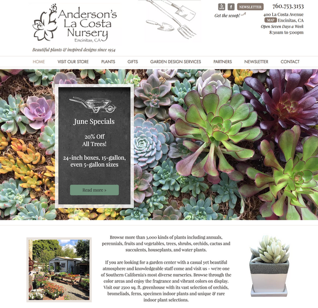Denver Website Design For A Garden Nursery | Denver Web Design