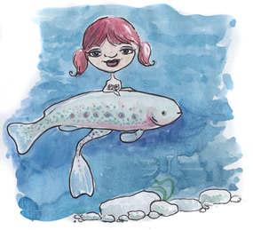 Denver Illustrator – Trout Mermaids