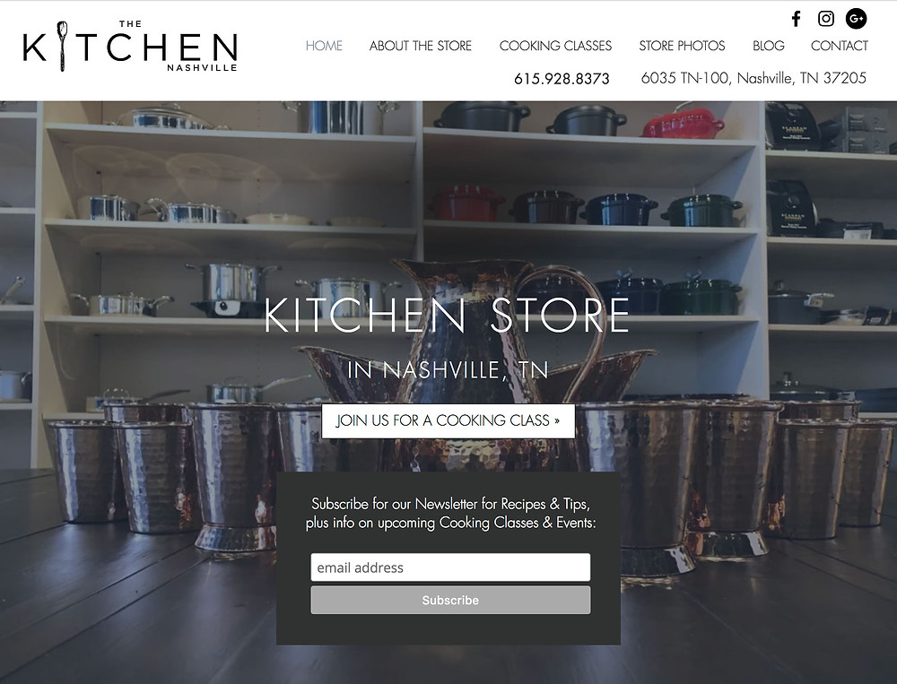 Wix SEO - for Kitchen Store in Nashville