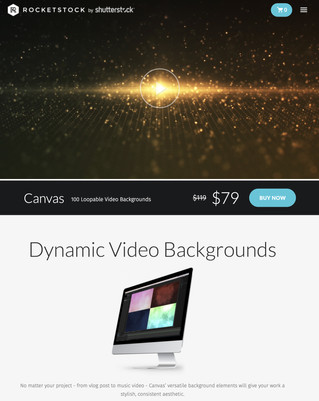 Loopable Video Backgrounds for Website Designs