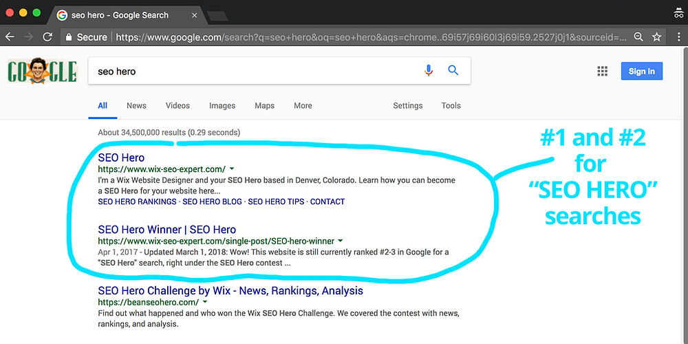 SEO HERO - Number 1!