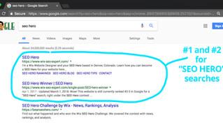 SEO Hero – Ranking #1 on Google!