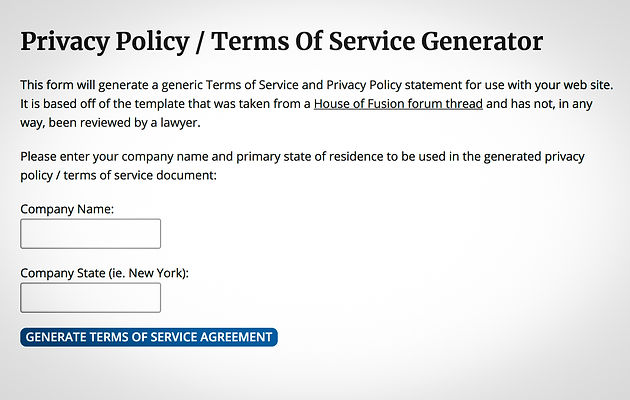 Easy Privacy Policy Generator For Gdpr Compliance Wix Designer