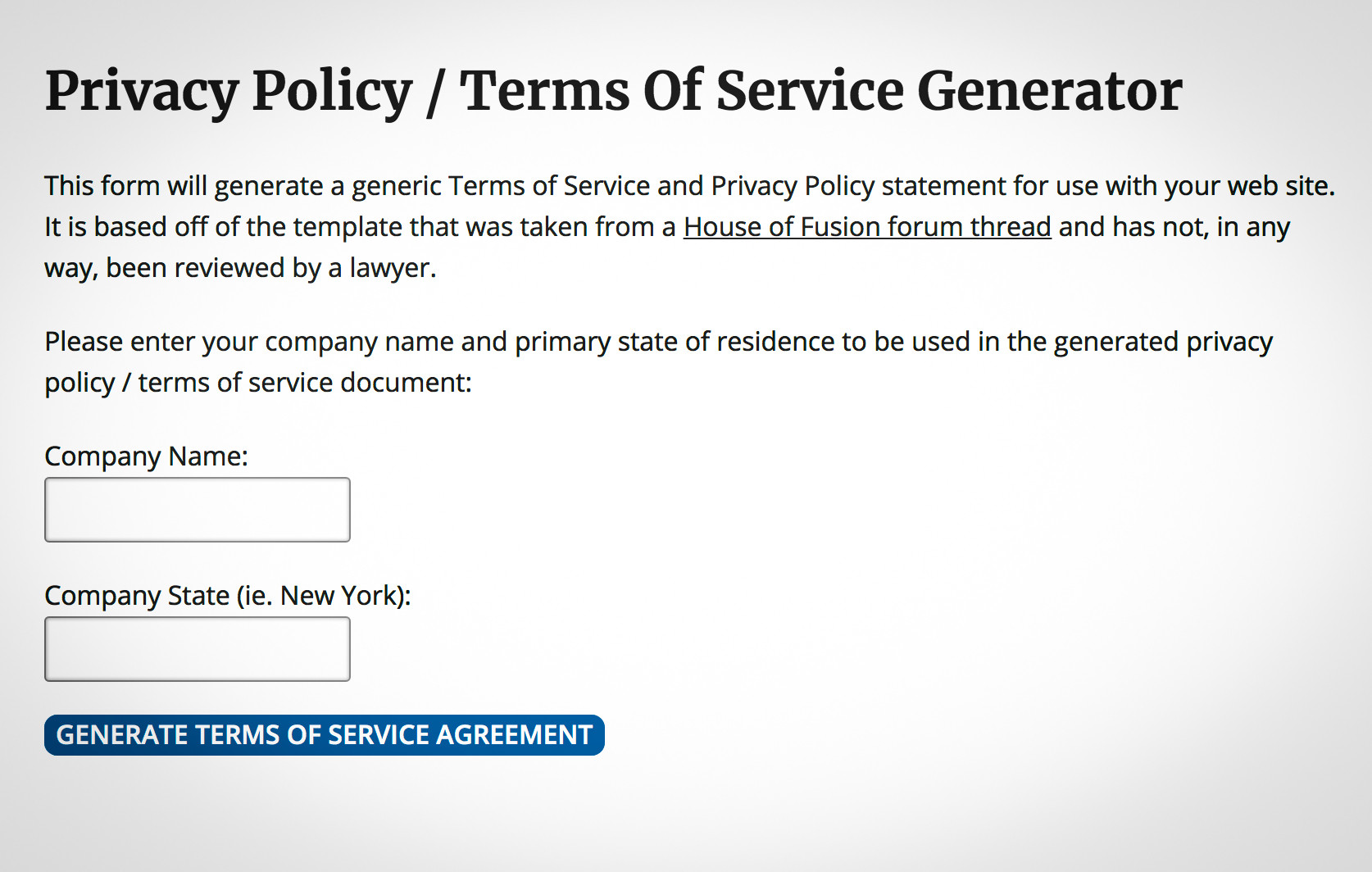 Generic Privacy Policy >> Easy Privacy Policy Generator For Gdpr Compliance