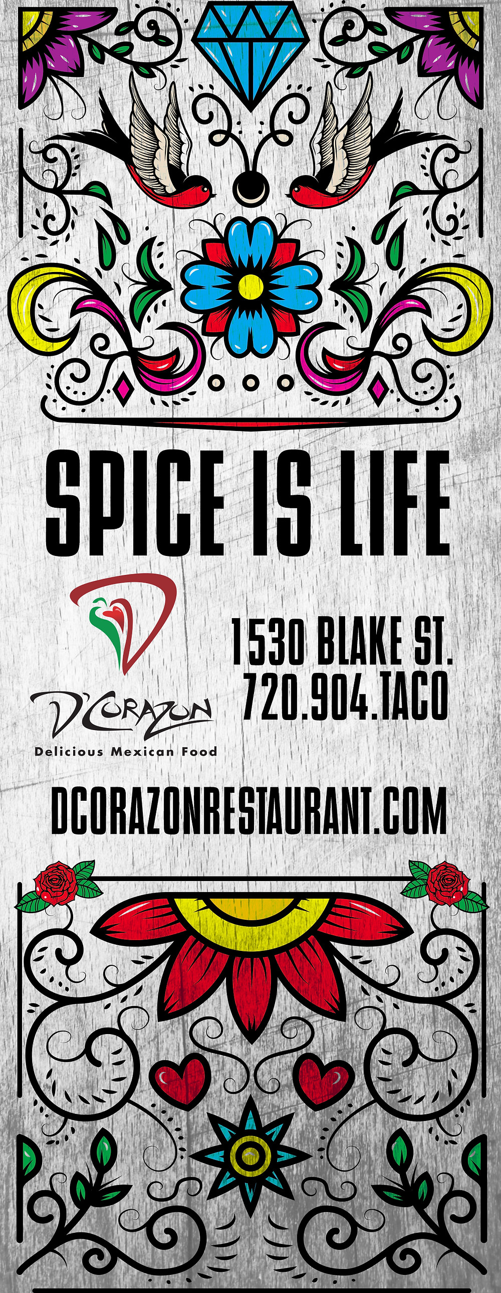 Denver Graphic Designer: Restaurant Ads for Westword - D'Corazon Ad Concept