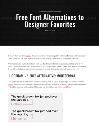 SEO Hero Tip: Free Font Alternatives for Designers