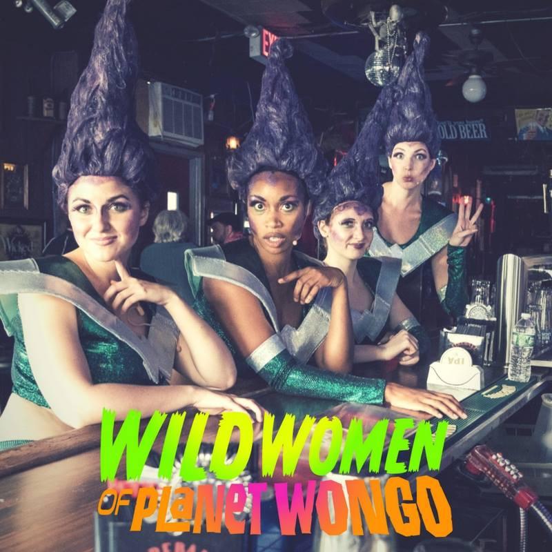 Drinking Wongotinis at the Bar