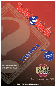 Denver Trivia on Tuesday Nights - free parking!