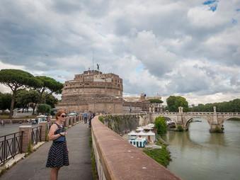 Castel Sant'Angelo along the Tiber River