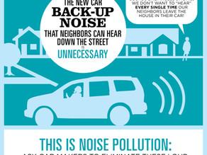 Infographic Designer: Car Reverse Noise