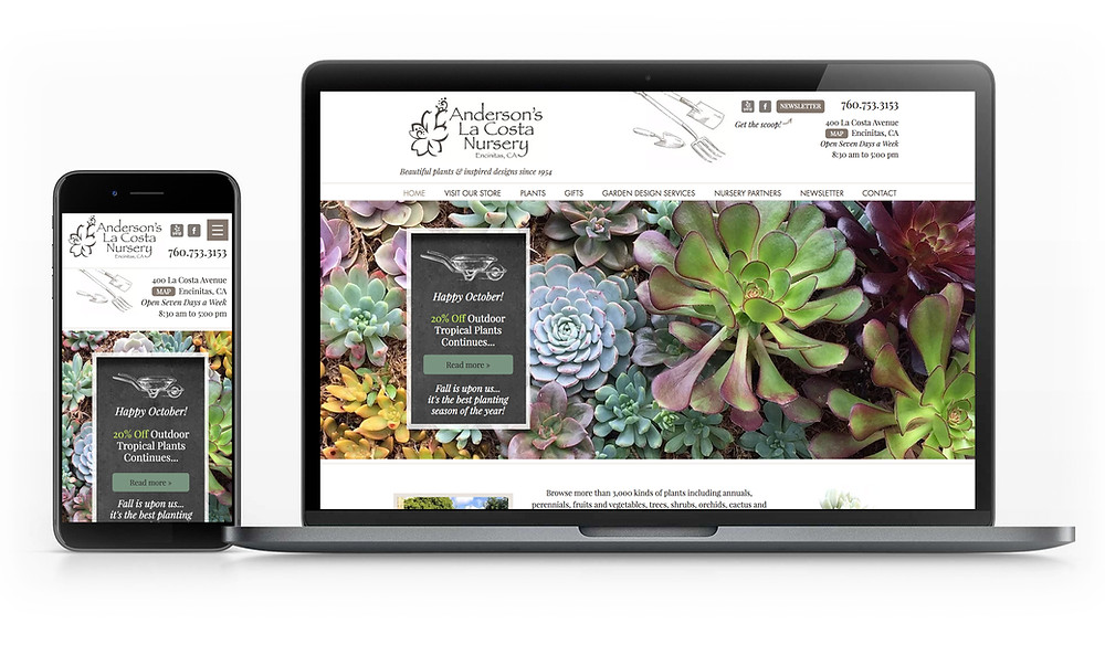 Garden Website Template - Custom Website Design for Garden Nursery