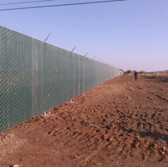 Security Chain Link Fence with Slats