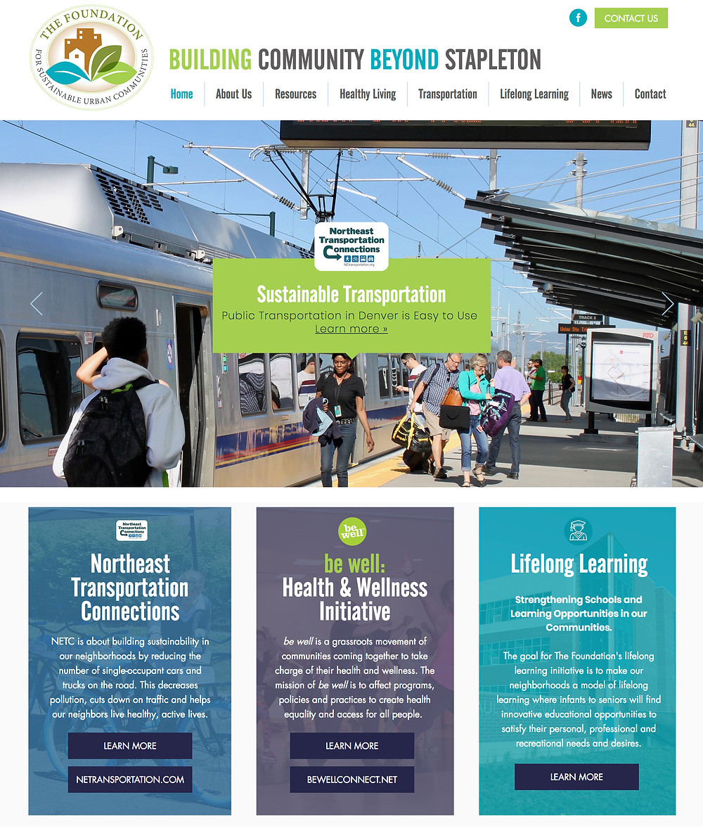 Nonprofit Website Design - for Denver Foundation for Sustainable Urban Communities