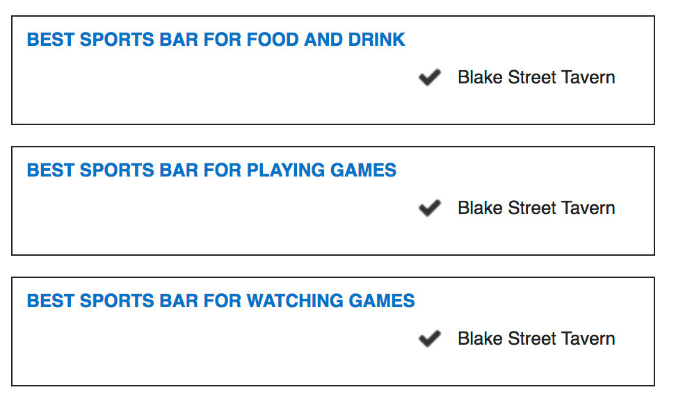 DENVER'S BEST SPORTS BAR FOR FOOD AND DRINK -  BEST SPORTS BAR FOR PLAYING GAMES - BEST SPORTS BAR FOR WATCHING GAMES