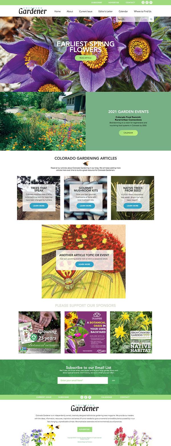 Best Wix Websites for Colorado Garden Magazine