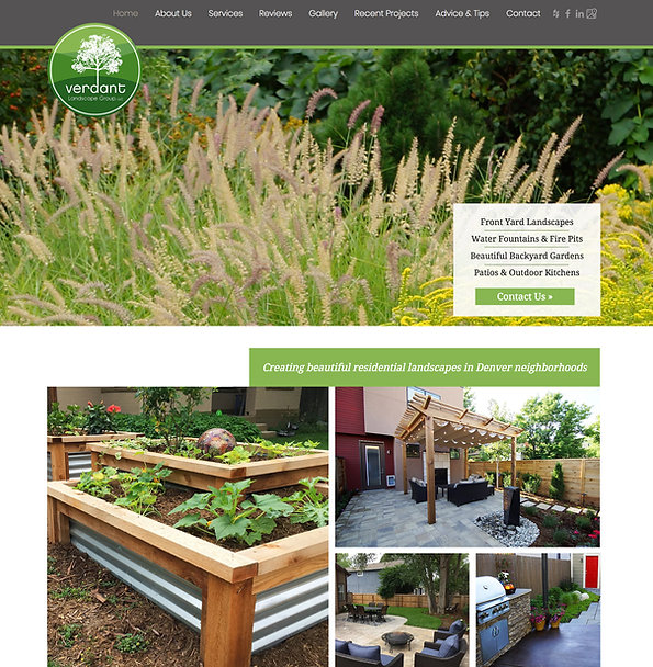Best Wix Websites - Wix Website Template for Landscaping Company