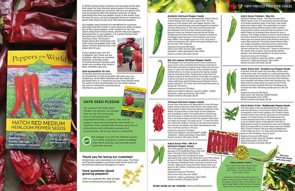 Catalog Designer for Seed Company SandiaSeed.com