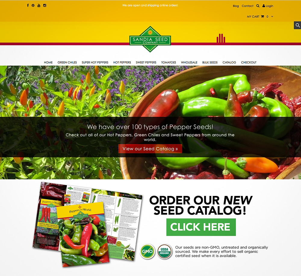 Website Design Template for Seed Company