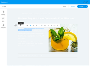 Wix Blog - Change Background Color in Editor
