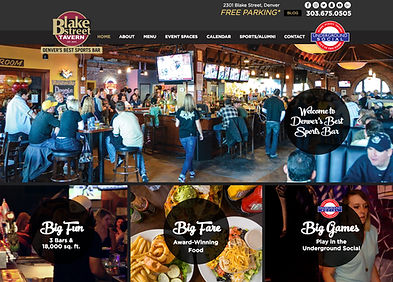 Denver Web Design - for Denver Restaurant and Bar, Blake Street Tavern