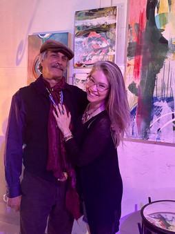 Artists Sean Guerrero and Robin Arthur