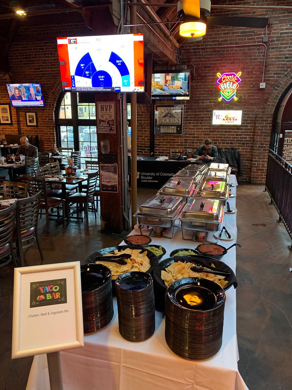Watch CU Buffs at Blake Street Tavern - Taco Bar Buffet