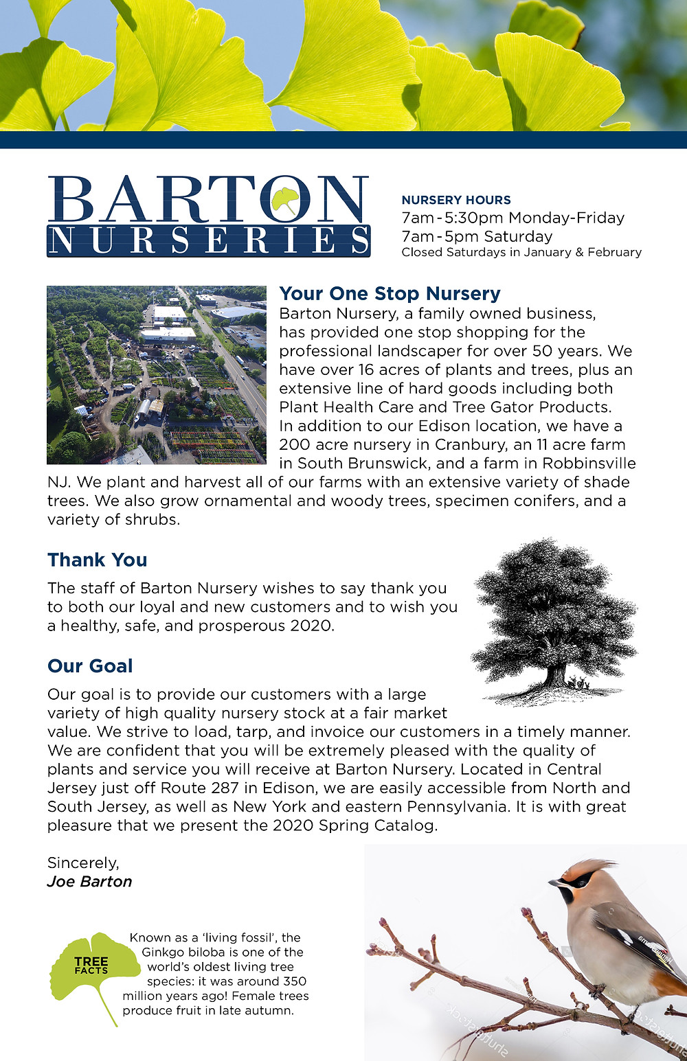 Catalog Designer for Tree Nursery - Barton Nurseries