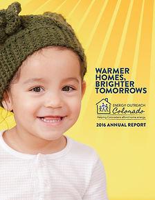 Annual Report Graphic Design for Energy Outreach Colorado, a Non-Profit