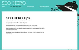 SEO Hero Resources