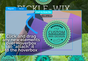 Wix Website Designer in Denver – Hoverbox - how to add elements to Hoverbox