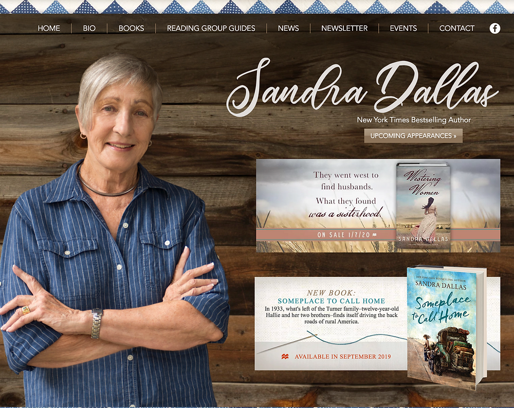 Wix Designer for Author Sandra Dallas
