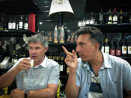 Ken telling me how it is. Having a tradi