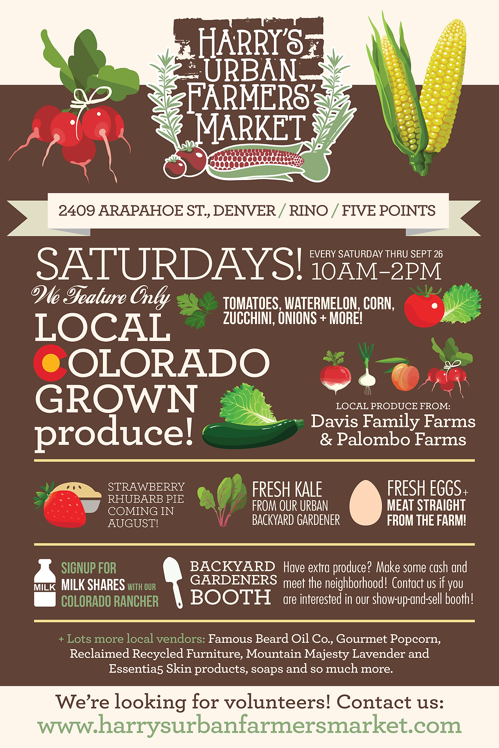 Infographic Design Agency - Farmers Market Infographic