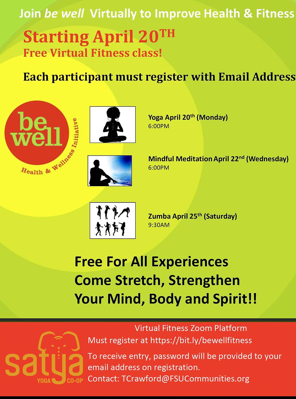 Free Virtual Fitness Class