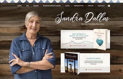 Author Website Designer for Sandra Dallas