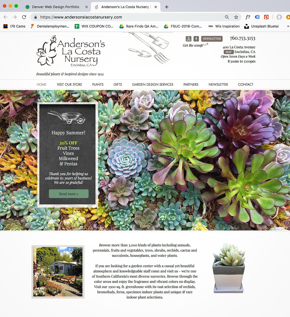 Best Wix Designer - Garden Center