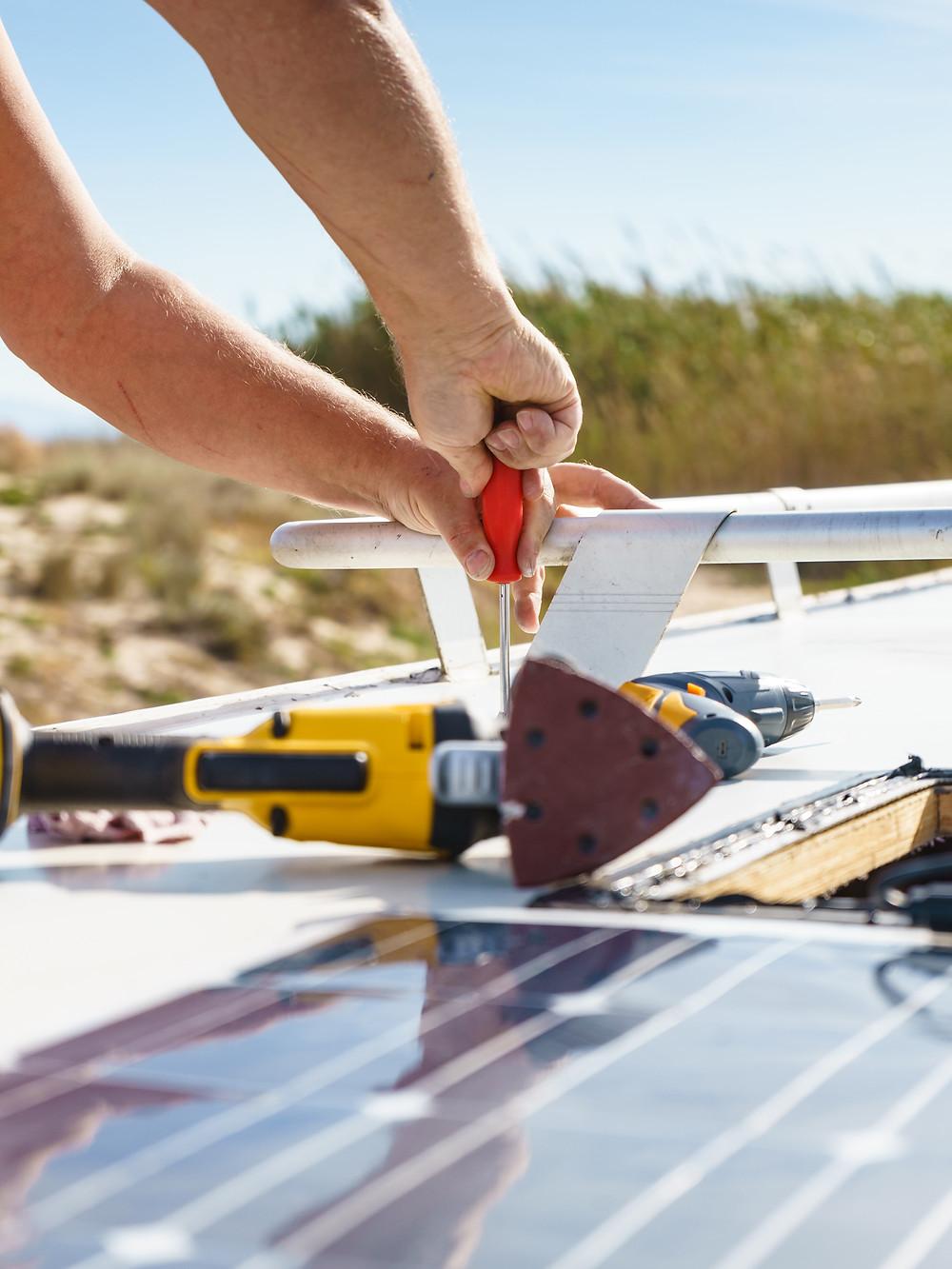 RV Solar Installation near Fresno, California by Sbrega Electric in Coarsegold, CA