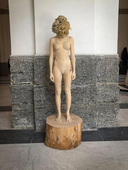 These weird, wooden sculptures kept popp