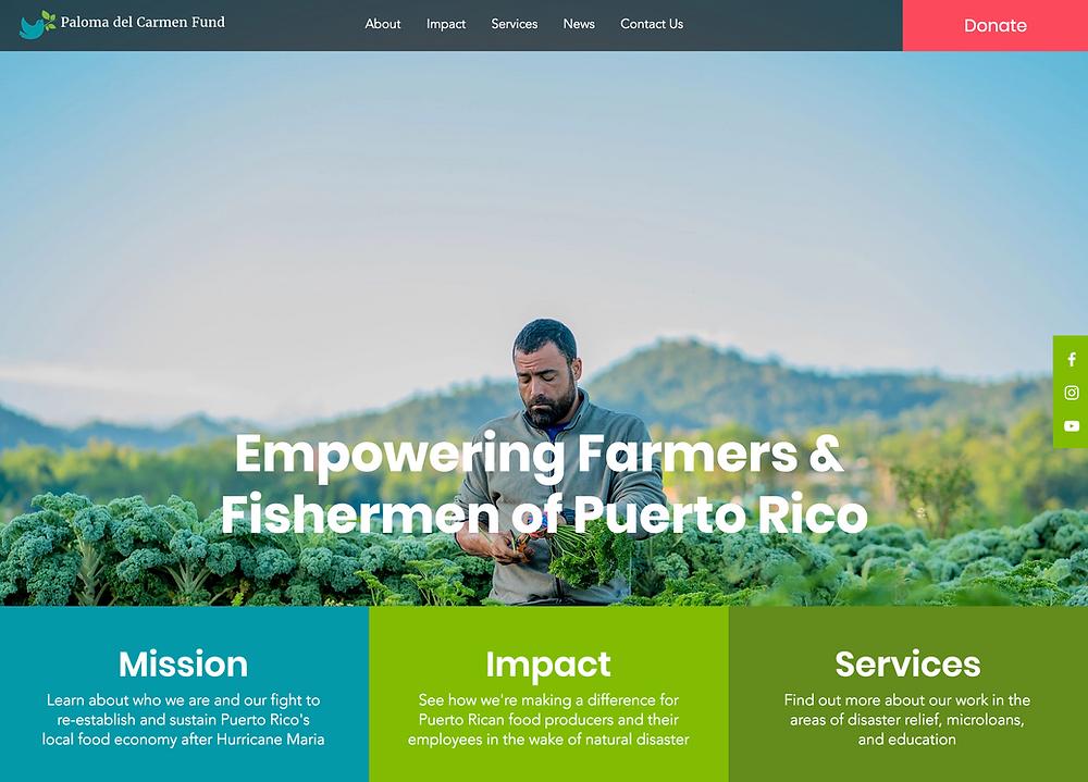 Non-Profit Website Designer for Puerto Rico Farmers