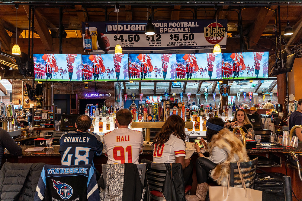 Best Local Restaurants in Denver - Blake Street Tavern has plenty of Bar Seating and tons of HDTVs to watch the games