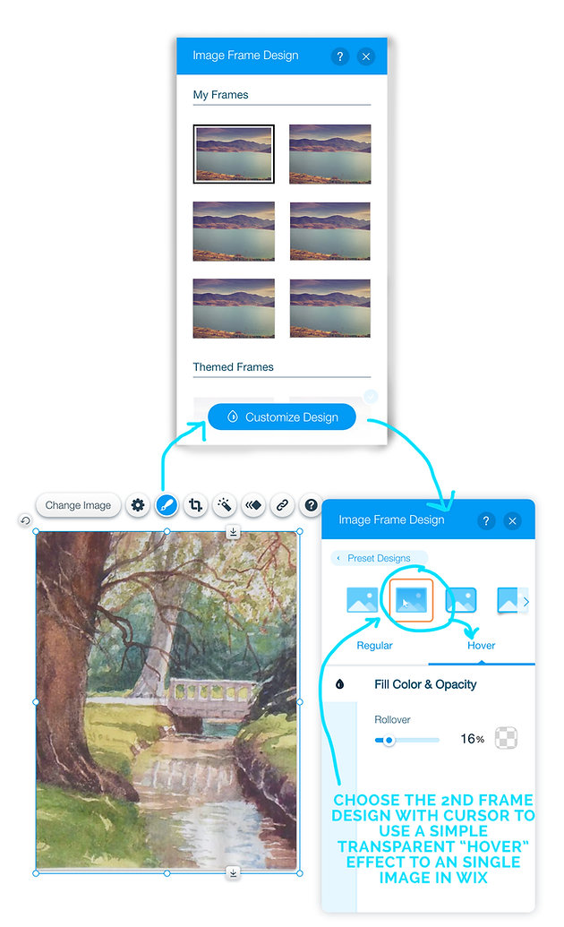 Image Rollover Effect in Wix