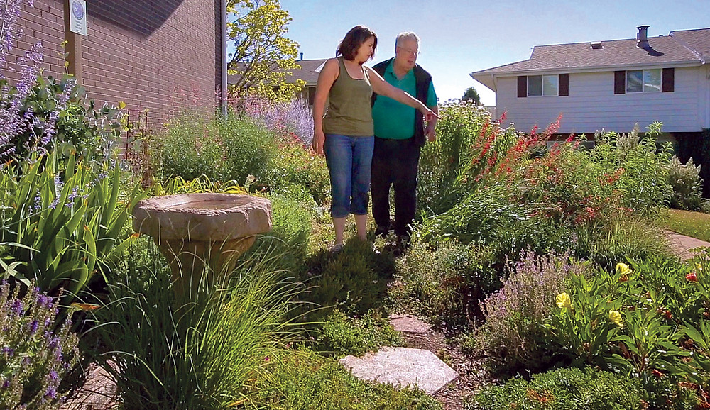 Lynn and Don Ireland spearheaded the transformation of their SE Denver neighborhood landscapes from dull lava rock & junipers to award-winning xeric habitat gardens, saving millions of gallons of water.Photo: HarveyPro Cinema